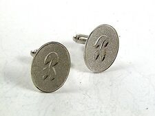 Vintage Silver Tone Initial / Letter B Cufflinks 12617