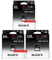 Sony 32GB 64GB 128GB SD SDHC SDXC Card G Series SF-G UHS-II 4K 300MB/s Read