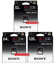 Sony 32GB 64GB 128GB SD SDHC SDXC Card G Series SF-G UHS-II 4K 300MB/s Read