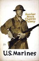 Vintage U.S. Marines  Poster WW 1