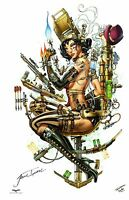 GFT SEXY STEAMPUNK HUNTERS ART PRINT Signed by Artist JAMIE TYNDALL