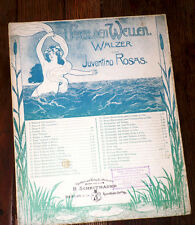 Ueber den Wellen sobre las olas valzer partition piano seul 1900 Juventino Rosas
