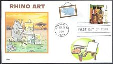 RHINOCEROUS  RHINO  HORN   ARTISTS VIEW   FDC- DWc CACHET
