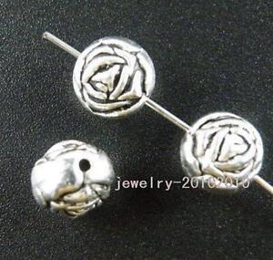 35pcs Tibetan Silver Nice Rose Spacer Beads 10x9mm zn26662