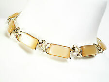 CORO - Vintage Faux Mother-of-Pearl & Gold Tone Necklace - Signed - Circa 1950's