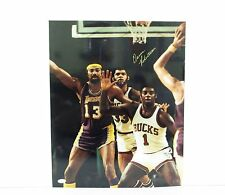 Oscar Robertson Signed 16X20 Photo With Abdul Jabbar Wilt Chamberlin JSA I58683