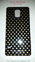NEW ISAAC MIZRAHI - NY Samsung Galaxy S5 Case Black & Gold Dots, CO8909U
