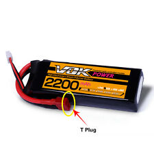 VOK 4S Lipo Battery 14.8V 35C 2200mAh T-Plug Discharger Plug for RC Racing Drone
