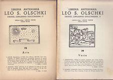 Lotto di 18 cataloghi della Libreria Leo S. Olschki (Libri antichi)