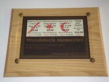 WOODSTOCK 3 DAY 1969 ORIGINAL TICKETS JIMI HENDRIX SANTANA DEAD JANIS JOPLIN USA