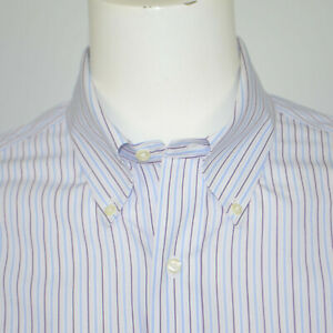 BROOKS BROTHERS Regent Slim Fit Non Iron Supima Cotton Dress Shirt 17 - 34