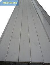 12,90€/m² Fasebretter weiß grundiert 19x121 mm  mit Nut und Feder statt Rauspund