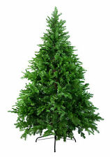 7' Ft Green Artificial Holiday Christmas Tree with Clear Lights & Stand