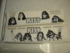 KISS 1977 BUMPER STICKERS LOT OF 2 MADISON SQUARE GARDEN
