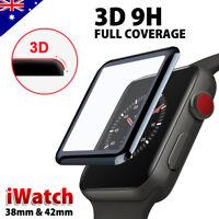 geh?rtetes Glas VOLLER ABDECKUNG Bildschirmschutz für Apple Watch 38/42 mm