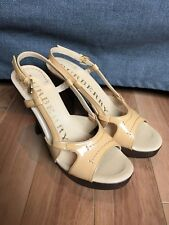 7 US 37 EU BURBERRY Nude Leather Italy Pump Stiletto Sandals
