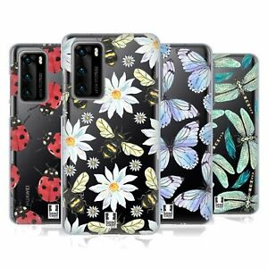 HEAD CASE DESIGNS WATERCOLOUR INSECTS GEL CASE & WALLPAPER FOR HUAWEI PHONES