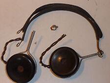 brunet F paris ECOUTEUR CASQUE RADIO TELEPHONE PHONE Vintage Headphones army WW2