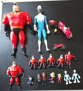 Disney Pixar Incredibles Bundle 17 Figures.  Elastigirl Mr Violet Dash Frozone