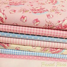Kids Cupcakes Fabric Bundle of 7 half metres 100% Cotton Poplin Material Bundle