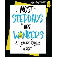 Fathers Day Birthday Greetings Card- Most stepdads are wankers YB01