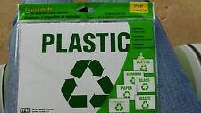 6 Sign Recycle Label Kit Vinyl Self-Adhesive