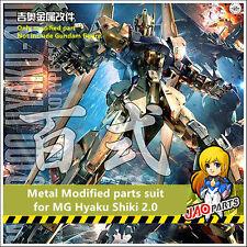 JAOparts Metal Modified parts set for Bandai MG 1/100 MSN-100 Hyaku Shiki Gundam