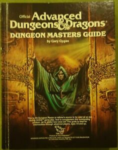 Advanced dungeons and dragons Dungeon Masters Guide 1979