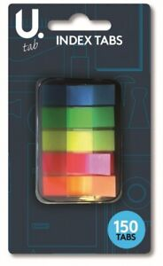 ASSORTED NEON STICKY INDEX TABS Translucent Book/Page Marker Stationery Strips