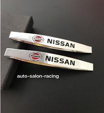 2pcs NISSAN Luxury Auto Car Body chrome Fender Badges Emblems Decal Sticker