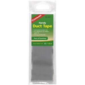 Coghlan's Handy Duct Tape 6' Convenient Pocket Size w/ Peel-Off Back Quick Fix
