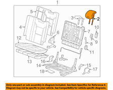 GM OEM Rear Seat-Headrest Head Rest 23341805
