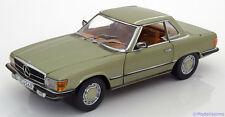 1:18 Sunstar Mercedes 350 SL W107 Hard Top  1977 lightgreen-metallic