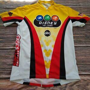 Louis Garneau Disney Tri Team Cycling Jersey Large  Full Zip Mens