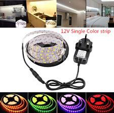 1M 2M 3M 4M 5M 5050 Led Strip Light 60Led/m DC12V Kitchen Home Lights UK Adapter