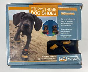 4 Dog Shoes STEP N STROBE Boots LED lights 01355 KURGO Lightweight Outdoor MED