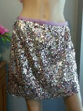 J Crew Collection Purple Silver Sequin Mini Skirt 2 S