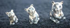 *** 3 Miniatur Bären 925er Silber ***