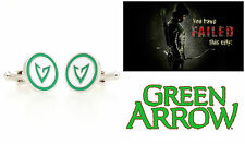 DC Comics Superhero Green Arrow Logo Cufflinks Groomsmen Wedding Gift US SELLER