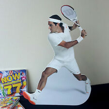 Roger Federer Display Desktop Stand Standee Figure Tennis Player Wimbledon