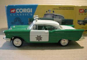 RARE CORGI CLASSICS 1:43 CHEVROLET - SAN DIEGO SHERIFF'S CAR   51301 + Cert
