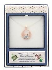 Equilibrium Silver & Rose Gold Plated Hedgehog Pendant