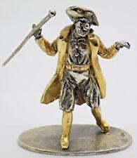 More details for vintage solid silver italian made commedia dell'arte pantalone figurine hallmark