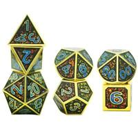 7 PCS Multi Side Dice D4 D6 D8 D10 D12 D20 pour jeu de rôle Party Board Game #