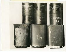 Bomb material taken from Cuban Saboteurs by FBI in NYC 1962 original press photo