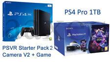 PS4 Pro Playstation 4 PRO 1 To + VR Headset psvr V2 + caméra V2 + Jeu UK * NEUF *