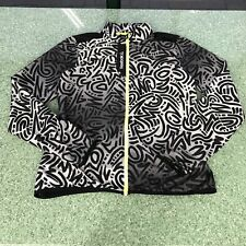 Reebok Essentials Women's Medium Running Jacket Windbreaker Ash Black