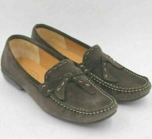 Talbots Women Slip On Moc Toe Loafers Size US 7B Brown Suede