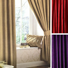 Catherine Lansfield Solid Eyelet Top Curtains & Pelmets