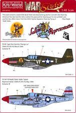 Kits World Decals 1/48 P-51B MUSTANG Fighter Shangri-La & Salem Representative